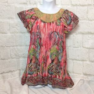New Directions Petite Crinkle Top